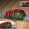 Petit arrangement floral pour votre table de fête