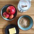Préparez un cake aux pommes avec de la farine de noix