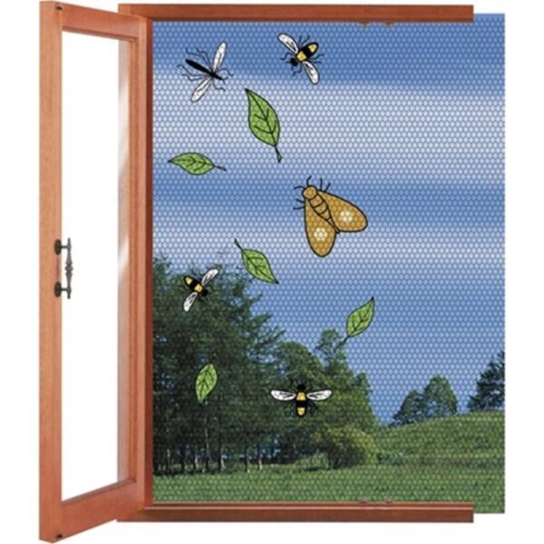 fliegennetz f r fenster max 130 x 150 cm fliegende. Black Bedroom Furniture Sets. Home Design Ideas