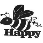 Bee Happy Wanddekoration - Metall