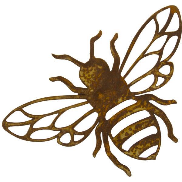 abeille suspendre en m tal rouill d coration de jardin repr sentation d 39 animaux. Black Bedroom Furniture Sets. Home Design Ideas