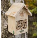 Bienenhotel Natur mit Brandzeichen