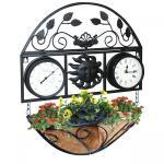 Wandkorb mit Thermometer und Uhr