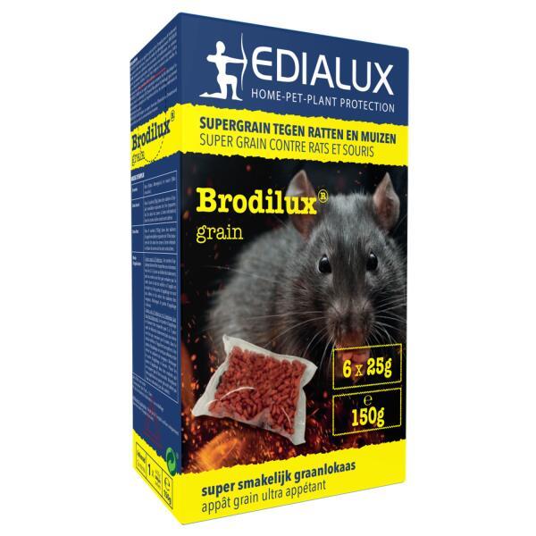 brodilux poison en grains pour rats et souris 150 g. Black Bedroom Furniture Sets. Home Design Ideas