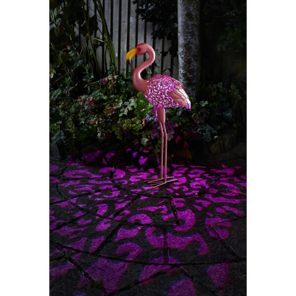 Flamant rose en métal - solaire   Représentation d animaux ... 1086b92fa04b