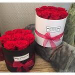 Blumenbox Rund Weiß Ø 12 cm - Rot