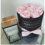 Blumenbox Rund Schwarz Ø 15 cm - Rosa