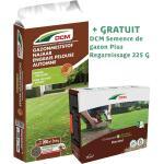 Engrais d'automne pour pelouse DCM 10 kg + offre temporaire d'une boîte gratuite de 225 g de semences DCM Plus