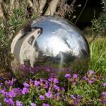 Boule miroir en inox (15 cm)