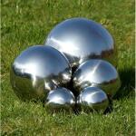 Boules miroir en inox (5 pièces)