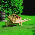 Blumenkübel - Schubkarre aus Holz