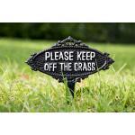 Keep off the grass - Gartenstecker Eisen