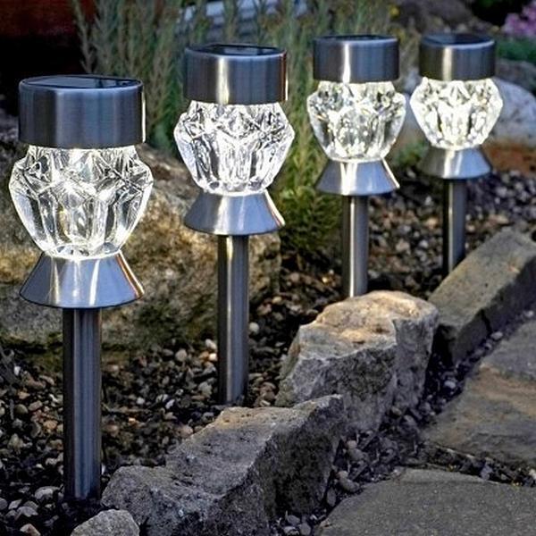 Lampe de jardin Cristal - énergie solaire