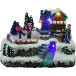 Village de Noël avec ses patineurs - éclairage led
