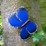 Schmetterling blau Wanddekoration