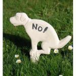 NO! Hundehaufen-Verbotsschild (weiß)