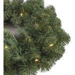 Norton Weihnachtskranz grün mit LED-Leuchten - Ø45 cm