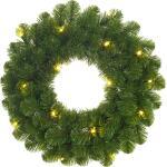 Couronne de Noël verte Norton avec éclairage led - Ø 60 cm