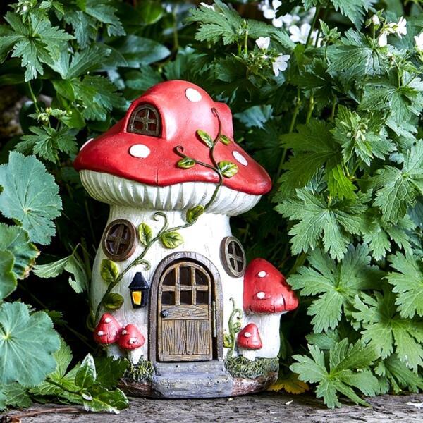 Champignon Decoratif Nains De Jardin Figurines De Jardin