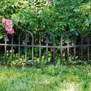 Bordure de jardin en plastique noir - 390 cm