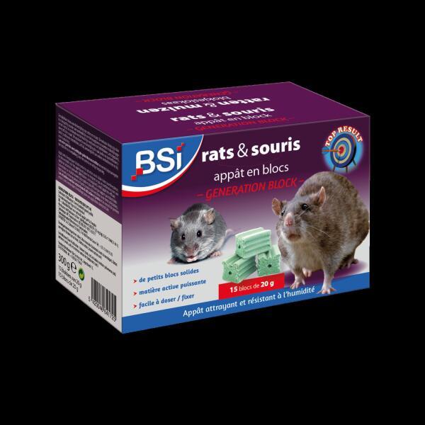 petits app ts en blocs pour rats et souris 300 g souris et rats lutte contre les nuisibles. Black Bedroom Furniture Sets. Home Design Ideas