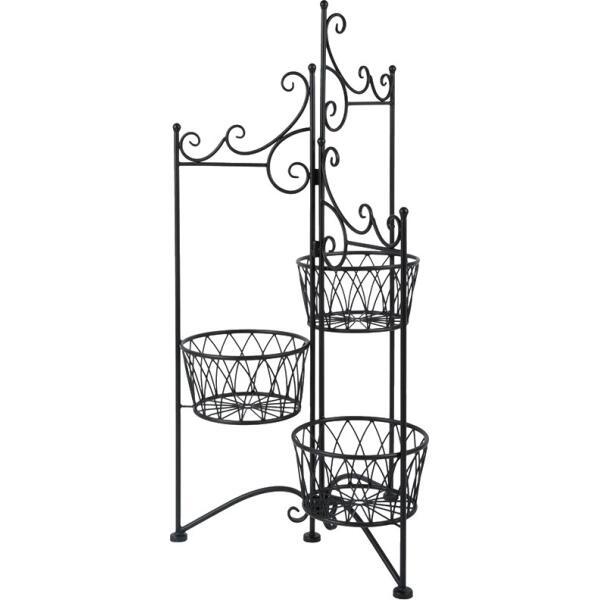 Porte plantes pour 3 pots porte plantes en m tal for Tout pour la maison en ligne