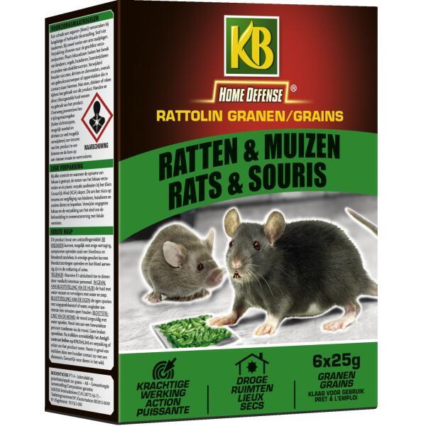 poison pour rats et souris rattolin grain b 150 g. Black Bedroom Furniture Sets. Home Design Ideas