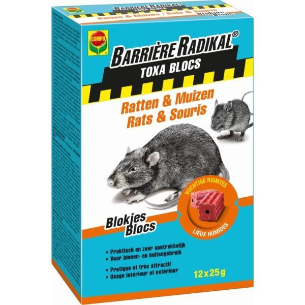 petits blocs de poison pour rats toxa 300 g souris et. Black Bedroom Furniture Sets. Home Design Ideas