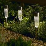 Gartenbeleuchtung mit Solarenergie mit Bodenstecker