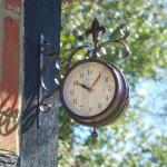 Horloge de gare York avec thermomètre