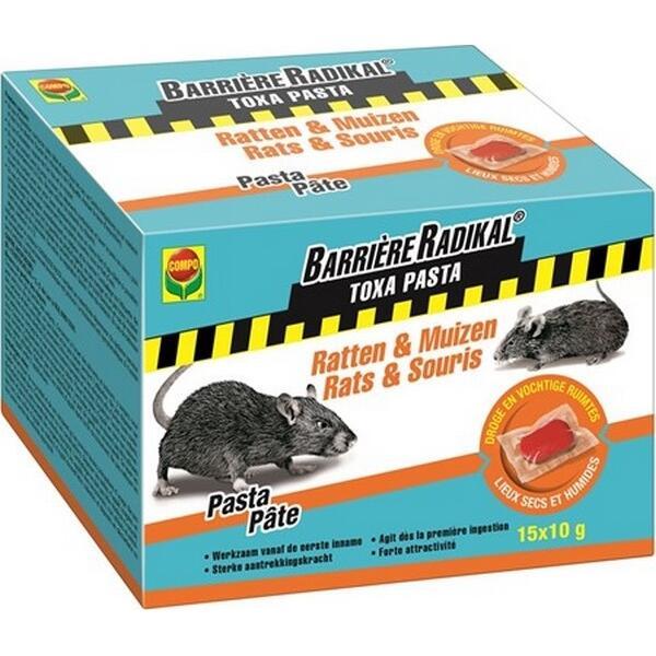 p te toxa contre les rats et souris 150 g souris et rats lutte contre les nuisibles. Black Bedroom Furniture Sets. Home Design Ideas