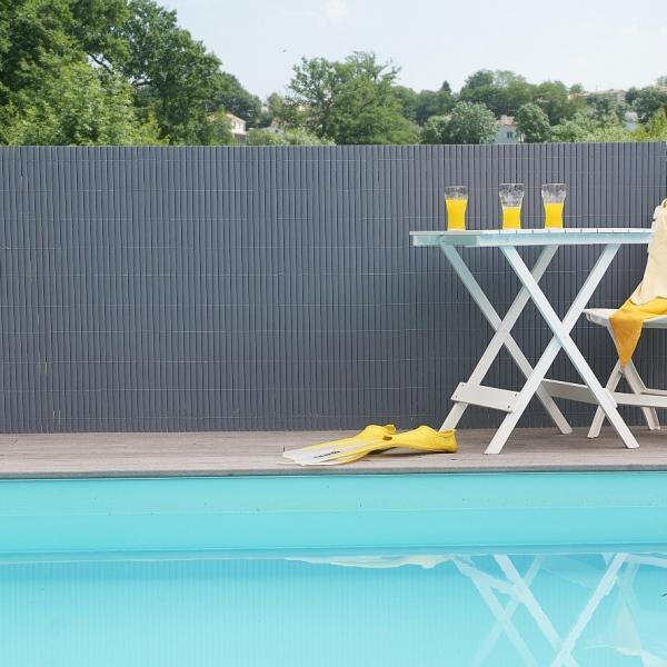 Ecran de jardin gris en PVC   Protection et vie privée   Aménagement ...