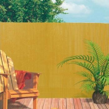 Ecran de jardin PVC couleur sable - 3 x 1 m
