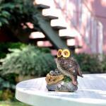 Eule auf Nest mit Sensor