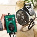 Chauffage et ventilateur pour serre en 1 avec thermostat digital