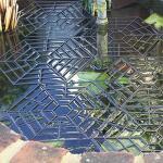 Grille flottante comme protection pour l'étang - 1,30 m²