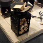 Feuerschale mit Holzlager - Ø 45 cm