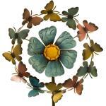 Windrad Schmetterling und Blumen