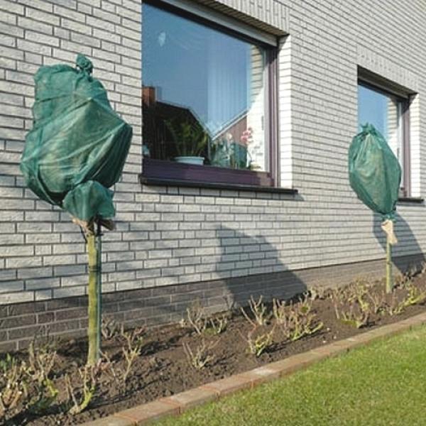housses d 39 hiver vertes pour les roses housses transparentes pour plantes protection contre. Black Bedroom Furniture Sets. Home Design Ideas
